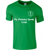 My Mummy / Daddy Saves Lives Childrens T-shirt