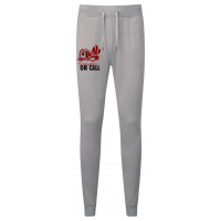Firefighter On Call Jogging Bottoms in Grey - Ideal for lounging in while while waiting to go out on a shout, for retained firefighters.
