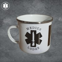 The original Medics Lodge MED Enamel Mug