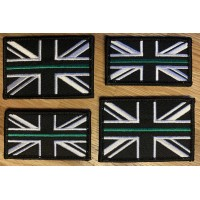 Thin Green Line Union Jack Velcro Badge