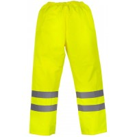 High-Visibilty Waterproof Overtrousers (Yellow, Black or Navy)